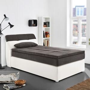 Das Bild Wird Geladen Boxspringbett Odessa Schlafzimmerbett Bett In Weiss  Grau Mit