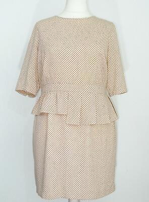 MARKS /& SPENCER Cream Scoop Neck Floral Sleeveless Dress RRP £45