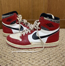 Original 1985 Nike Air Jordan 1 - Size 11 - Black Red White ...