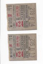 1962 hockey ticket lot of 2 New York Rangers v Montreal Canadiens NY wins 2 to 1