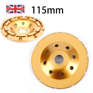"115 mm 5"" Diamond Grinding Cup Wheel Stone Marble Concrete Sanding Disc Gold"