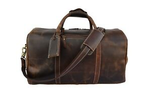 Buffalo Leather Travel Duffle Bag Mens