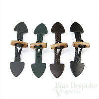 Small Leather Toggle Closures For Children's Clothes, Made In Italy
