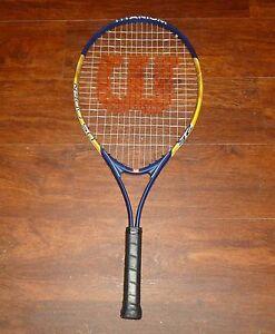 Wilson US Open 25 Titanium Junior Youth Tennis Racquet with 3 7 8 ... e143072a8e173