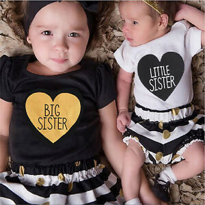 Valentine-Day-Kid-Baby-Girls-Little-Big-Sister-Romper-PantsT-shirt-Dress-Outfits