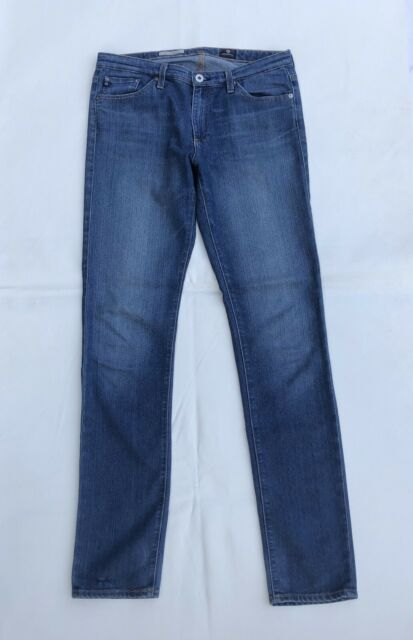 AG Adriano Goldschmied Women's Premier Skinny Straight Medium Wash Jeans 30R