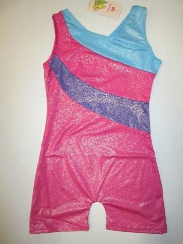 NEW Girl/'s Biketard Size 7-8 MC 10 LC Leotard Unitard Dance Gymnastics Pink