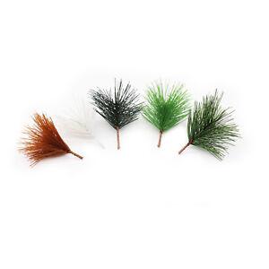 10pcs-Artificiale-Aghi-di-Pino-con-tronco-albero-di-Natale-Xmas-Party-Ciondolo-Corona