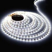 LED Strip Licht Streifen 5m Band Leiste mit 300 LED Weiß(SMD 3528) DC 12V Roll