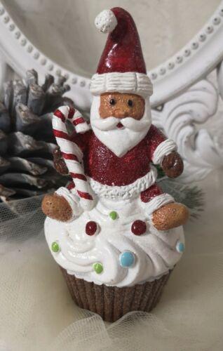 Muffin mit Weihnachtsmann Deko Weihnachten Shabby Chic Vintage  Landhaus