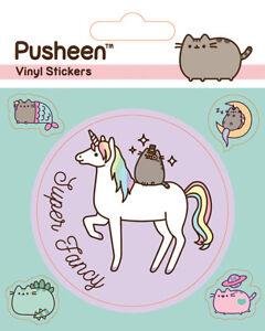 Pusheen Cat Vinyl Sticker Unicorn Super Fancy Girlfriend