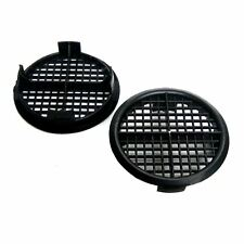 4 x Black Plastic 70mm Round Soffit Air Vents / Upvc Push Fit Eaves Disc Fascia