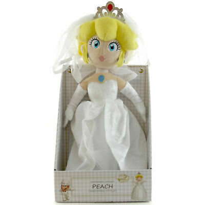 "REAL 1692 Little Buddy  Super Mario Odyssey Peach Bride Wedding 13.5/"" Plush"
