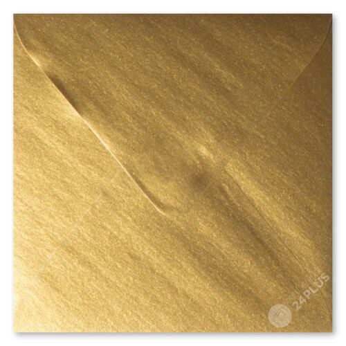 110x110mm 25x Briefumschläge feuchtklebend Gold 11,0x11,0cm