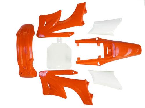 Orange Apollo Plastics Fender Guard Fender Fairing Kit 125//250cc Dirt//Pit Bikes