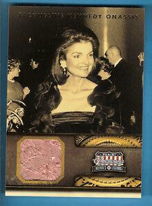 JACQUELINE-JACKIE-KENNEDY-ONASSIS-WORN-RELIC-CARD-FIRST-LADY-JFK-AMERICANA-d499