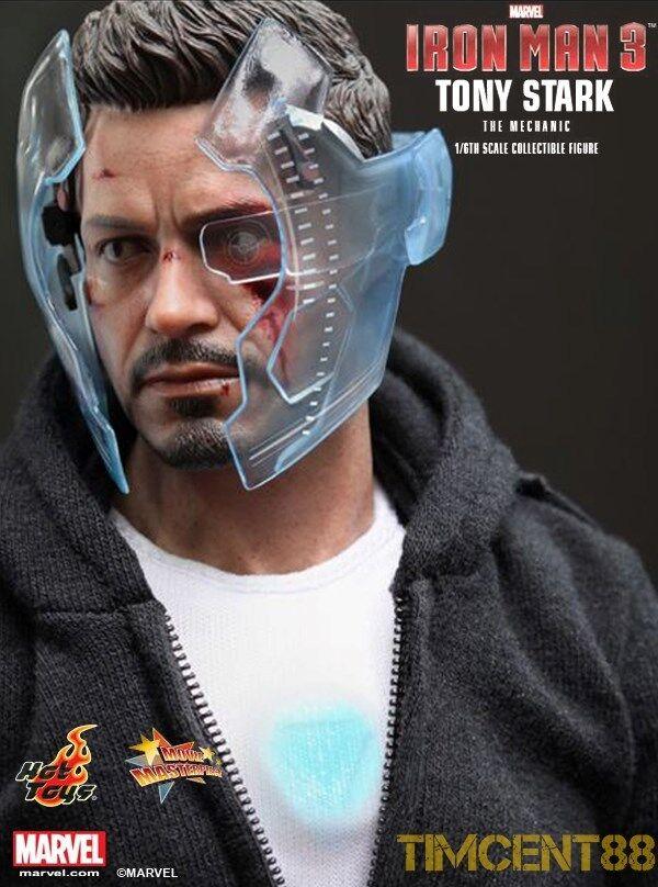 Hot Toys MMS209 1 6 Iron Man 3 Tony Stark The Mechanic Mandarin Mansion Normal