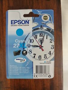 Epson 27XL Original Ink Cartridge CYAN High Capacity. BOXED