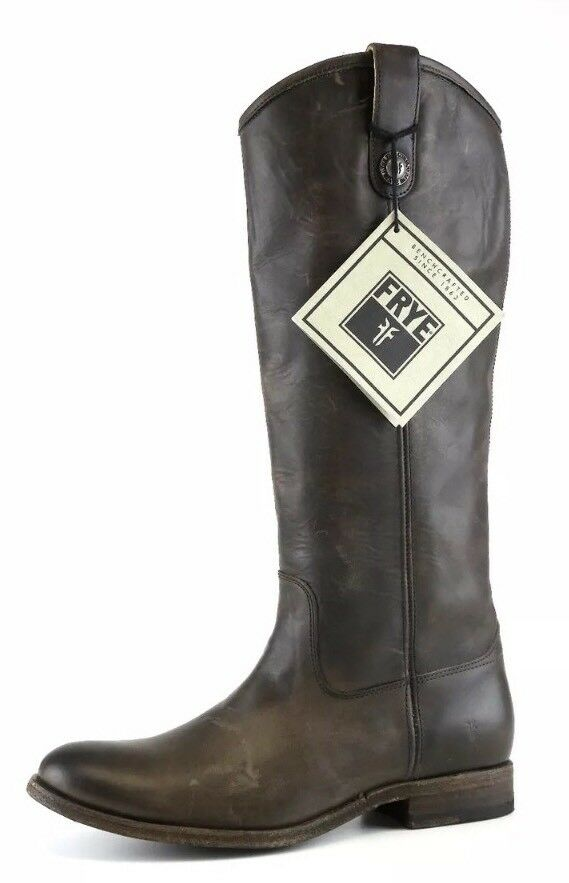 Frye Brown Leather Women Mid Calf Boot Size 8B 4192