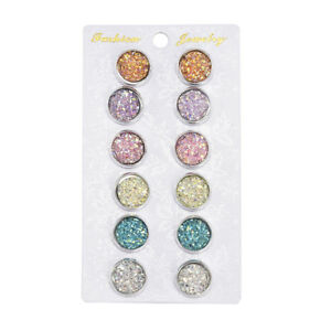 6-Pairs-Stainless-Steel-Shiny-Austrian-Crystal-Round-Stud-Earrings-Jewelry-New