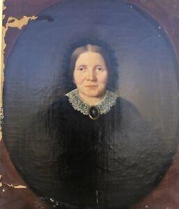 Biedermeier-Damenportrait-Wefels-Kaufmann-Aachen-um-1850-68-x-58-Olgemaelde