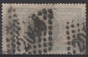 FRANCE-STAMP-TIMBRE-33-034-NAPOLEON-III-5F-VIOLET-GRIS-034-OBLITERE-A-VOIR-M392