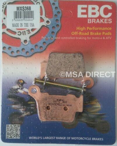 Husqvarna TE310 (2010 to 2013) EBC Sintered RACE REAR Brake Pads (MXS368) 1 Set