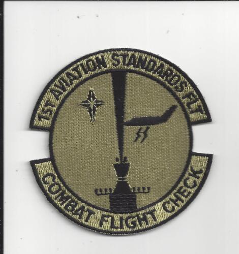 PATCH USAF 1ST AVIATION STANDARDS FLT COMBAT FLIGHT CHECK