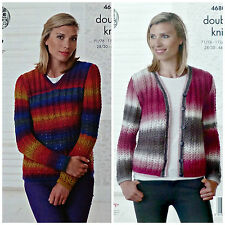 21d934f61 Ladies Sweater   Cardigan for King Cole Riot DK Yarn Knitting Pattern 4680