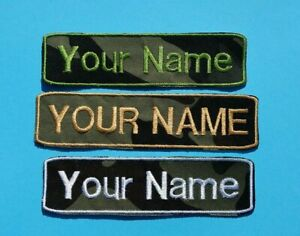 Your Name Patch Custom Text Uniform Patch Embroidered Patch Iron-On Tag Name