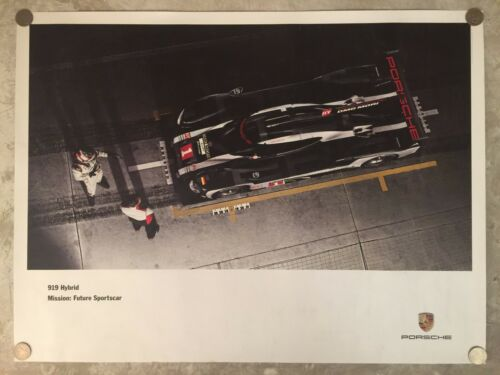 2016 Porsche 919 Le Mans Hybrid Showroom Advertising Poster RARE! Awesome L@@K