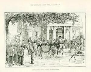 1889-Antique-Print-Arrival-of-German-Emperor-at-Osborne-House-Isle-Wight-382