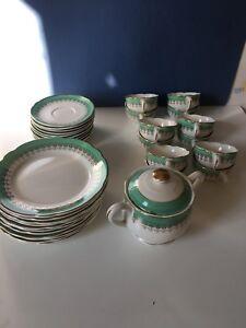 SERVICE-A-CAFE-DESSERT-DIGOIN-SARREGUEMINES-35-pieces-VINTAGE-A8OB