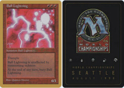 1x Ball Lightning Ben Rubin English World Championship Cards M 1998 NM-Mint