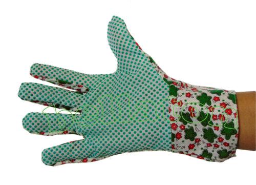 Montagehandschuhe Blumenmotive Gartenhandschuhe für Damen farblich sortiert