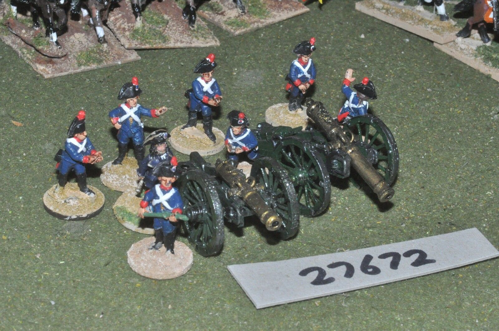 25mm napoleonic   french - revolutionary 2 guns & crews - art (27672)