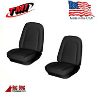 1969 Camaro Front Bucket Seat, Rear Seat Upholstery Black Vinyl Seat Covers, Tmi