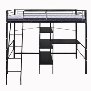 Black Loft Bed With Desk 40 Computer Desk