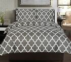 king Bedding Set Comforter 2 Pillow Shams 3 PC Set Brushed Microfiber gray boys