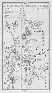 Map Of Ireland Cavan.1778 Ireland Cavan Ballananagh Granard Mullingar Tyrrellspass