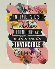 INSPIRATIONAL ART PRINT The Invincible Summer Kavan and Company