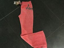 NWT Juicy Couture New Gen. Pink Velour Tracksuit Pants Glitter Logo Girl Age 10