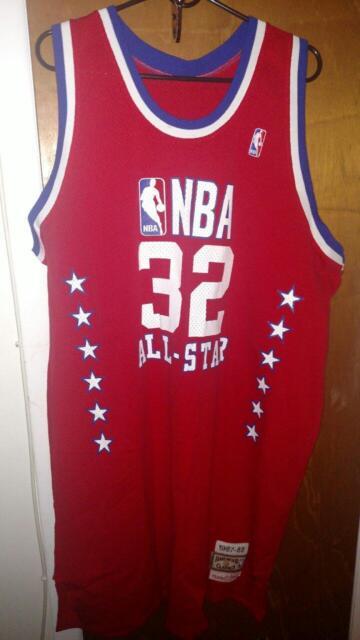 a6f5afbf0 Mitchell   Ness Hardwood Classic Lakers Magic Johnson NBA All-Star Jersey  56 EUC