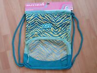 Mens Womens Skechers Backpack Green Yellow Carrysack