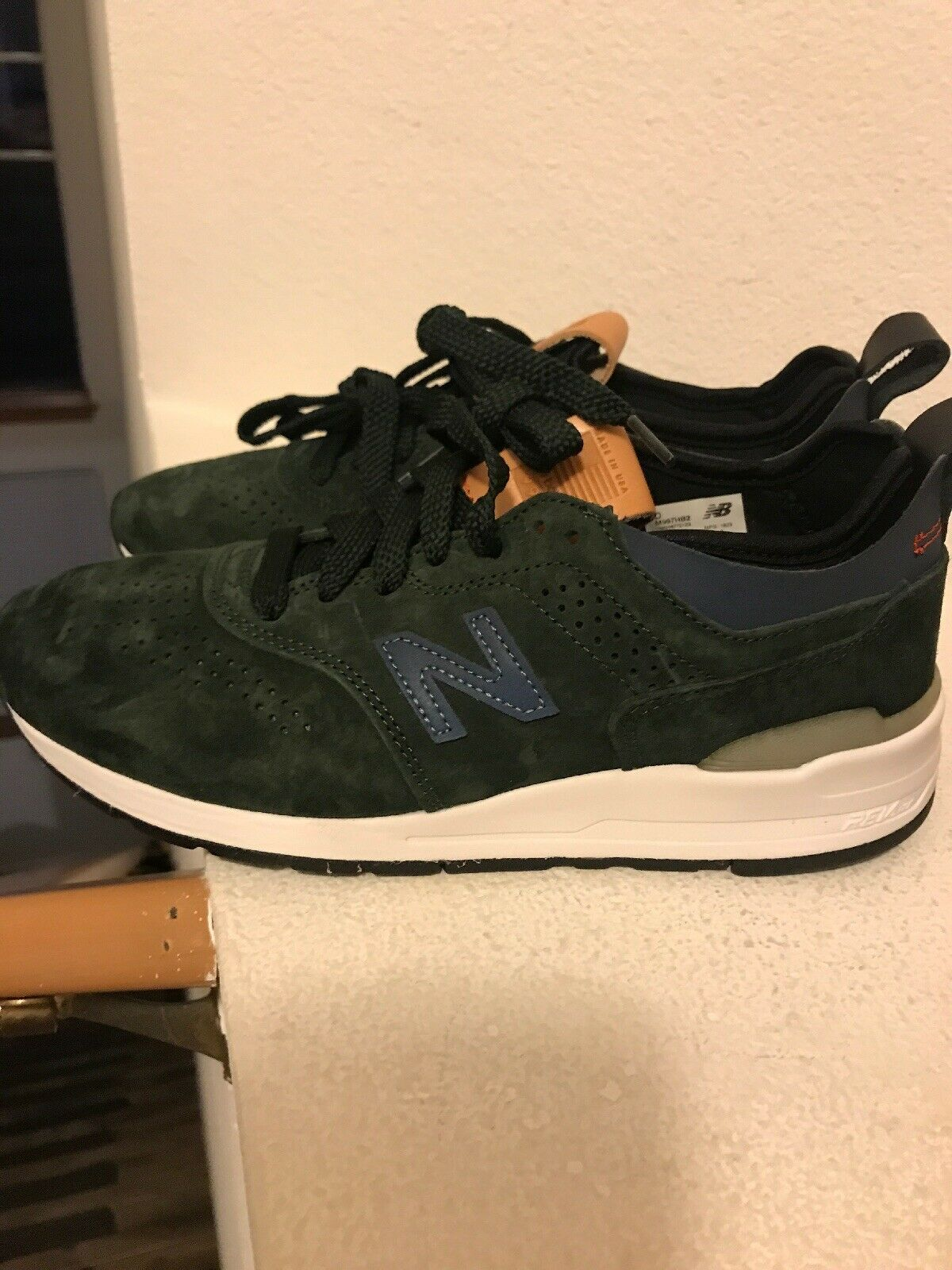 New Balance Made In USA USA USA verde Suede Men's Dimensione 6.5 M997HB2 Msrp 180 8d88e5
