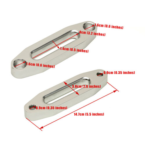 Aluminum Hawse Fairlead for Synthetic Winch Rope Cable Lead Guide ATV Universal