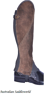 Brown Suede Leather Classic Comfort Gaiters