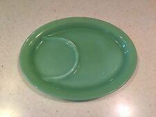 Vintage Fire King Jadeite 8 3/4 Inch Luncheon Snack Dish Tray