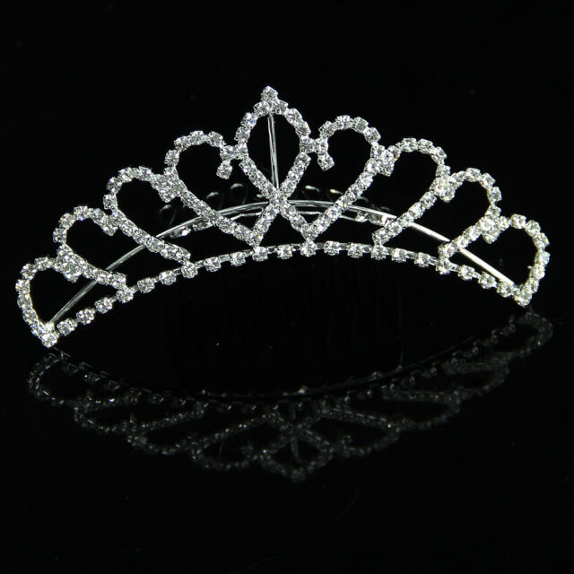 Comb Tiara Rhinestone Crystal Crown Pageant Hair Head band Wedding Party Bridal