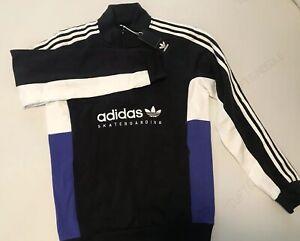 Details about Adidas Originals Apian Pullover DU8381 Size L BlkWhtElcblu Skateboarding